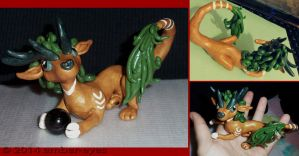 Gold and Green Dragon Sculpt by Ember-Eyes