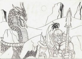 Warcraft pencil work by prashy