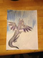 Purple dragon drawing! by Gumdropsweets