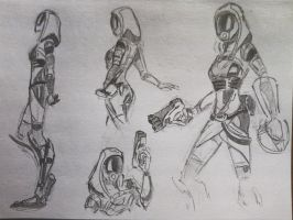 sketches Tali (15) by spaceMAXmarine