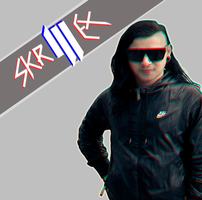 Another Skrillex Coverart by fueledbychemicals