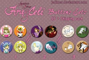 Ara and Celi Buttons by JadineR