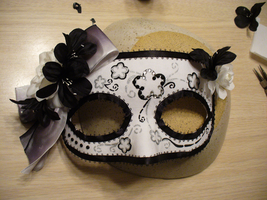 Masquerade Mask: Mari by InscribedinBlood