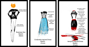 Fashion designs - sketches by SybilThorn