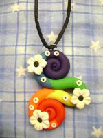 Rainbow Swirl Necklace by Lord-Ackbar
