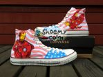 Iron Man Hand Painted Converse Canvas  Shoes by elleflynn