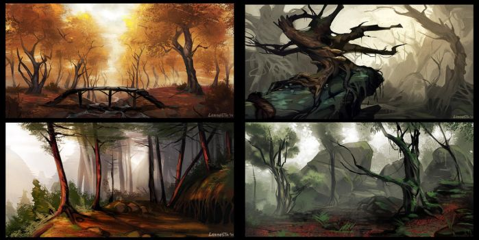 forest sketches by Larbesta