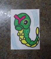 Caterpie ACEO by chkimbrough