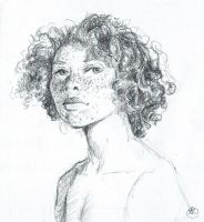 Bw Portrait Sketch2 by shelaghcully
