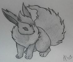 Flareon B+W by LilWhiteMage