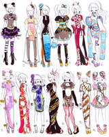 -CLOSED-Chinese dress designs by Guppie-Adopts
