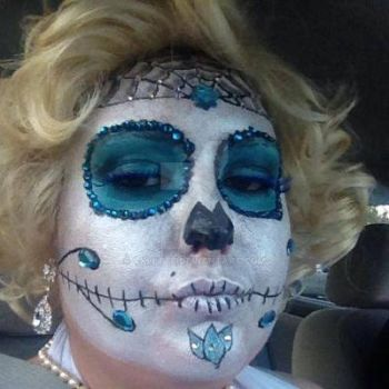 Marilyn Monroe Day of the dead by VkLette