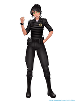 Commission - Mickie the Cop by RoninDude