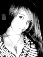 Black and white of Brooke by brookiebabyy41