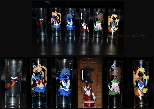 Sailor Moon Shot Glasses by AstroRobyn