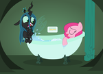 Contest entry - Chrysalis (and co.) Bathing by Drewdini
