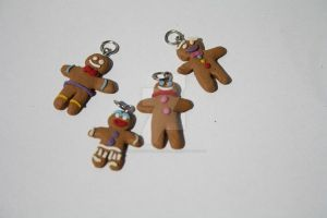 Gingerbread Charms by OrangeJuiceCreations