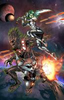 Guardians if the Galaxy by jadecks