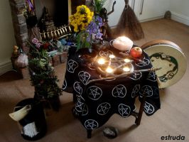 Beltane Pagan Alter ..)0(.. by Estruda