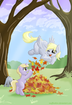 Playing in the Leaves by muffinshire