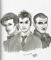 Doctor Who 9th, 10th and 11th by HenkkaArt