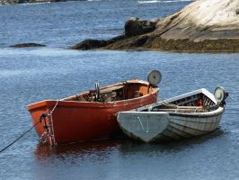 Old Wooden Rowboats by Endaewen