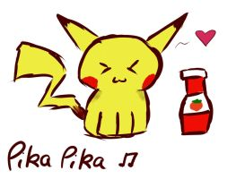 Pikachu and Ketchup by Fire-Dragon15