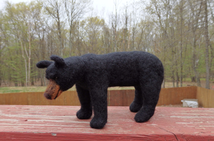 Needle Felted American Black Bear by DancingVulture