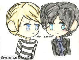 Chibi Sherlock And John by ThePastelHobbit