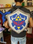 LOZ Link Hylian Shield with Master Sword Backpack by RbitencourtUSA
