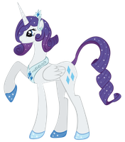 Rarity as an Alicorn by Rariedash