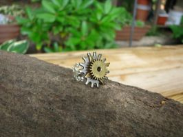 Steampunk 3 gear ring by bcainspirations