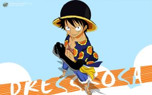 One Piece 1 Dressrosa (Luffy) - 1280x800 by PugPrime