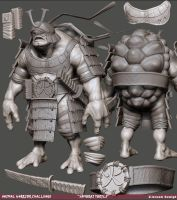 Samurai Turtle: Sculpt by Pogimonz