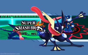 Greninja Wallpaper - Super Smash Bros. Wii U/3DS by AlexTHF