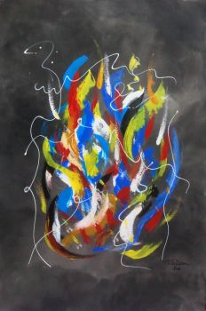Abstract painting by miriambr