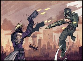 hawkeye vs green arrow by CRISTIAN-SANTOS