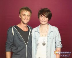 Me and Tom Felton by aamaji