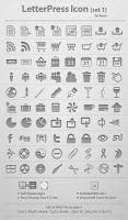 LetterPress Icon_Set 1 by femographi