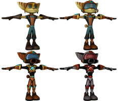 Ratchet and Clank: FFA - Ratchet Armor Pack by o0DemonBoy0o