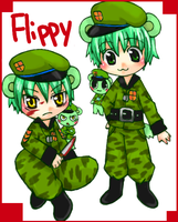 HTF Human Flippy by NYAMOMO