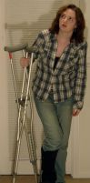 362 - crutches by WolfcatStock
