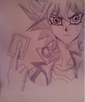 Yusei Fudo for Wolfy by queeniexunleashed