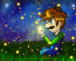 Mario: Luigi and Fireflies by AkiraHoshi-chan