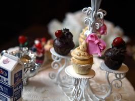 Miniature Cupcakes. by ChocolateDecadence