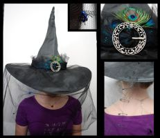 Peacock Witch hat by obeythekiwi