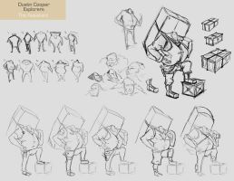 Assistant Sketches - Explorers by CatCouch