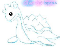 Seafoam the Lapras :: sketch :: by iFailAtEverything