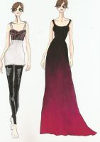 Fashion Illustration IV and V by HateSong