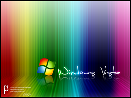 Vista Style Rainbow Wallpaper by FerdiCildiz
